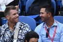David Warner and Ricky Ponting at the Australian Open, Melbourne, January 25, 2019