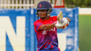 Rohit Paudel cuts through the off side, Kenya v Nepal, ICC WCL Division Two, Windhoek, February 12, 2018