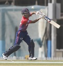 Rohit Paudel slices one away, UAE v Nepal, Dubai, January 26, 2019