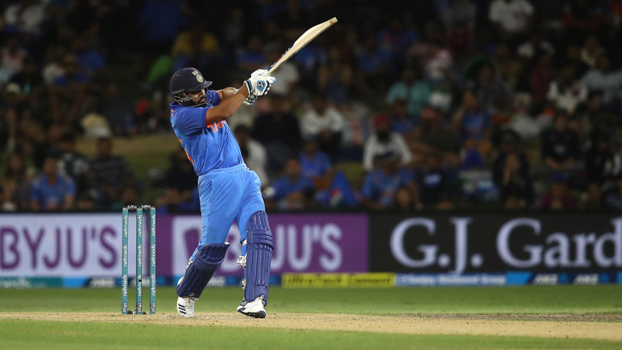Rohit Sharma pulls into the leg side