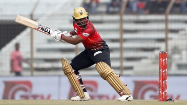 Evin Lewis smashed an unbeaten 109 in 49 balls