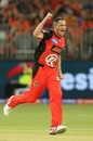 Chris Tremain was irresistible, bowling his four overs on the trot to take 3 for 9, Perth Scorchers v Melbourne Renegades, Big Bash League 2018-19, Match 43, January 28, 2019