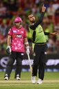Fawad Ahmed celebrates a wicket, Syndey Thunder v Sydney Sixers, BBL 2018-19, Sydney, December 24, 2018