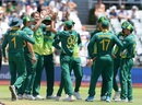 Dwaine Pretorius is mobbed by his team-mates, South Africa v Pakistan, 5th ODI, Cape Town, January 30, 2019