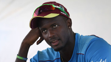 Jason Holder speaks to the media on the eve of the second Test