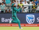 Substitute fielder Hasan Ali holds on to a catch, South Africa v Pakistan, 5th ODI, Cape Town, January 30, 2019