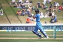 Shikhar Dhawan plays one off the back foot, New Zealand v India, 4th ODI, Hamilton, January 31, 2019