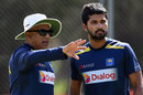 Chandika Hathurusingha chats with Dinesh Chandimal, Canberra, January 31, 2019