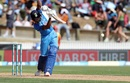 Hardik Pandya plays a drive, New Zealand v India, 4th ODI, Hamilton, January 31, 2019