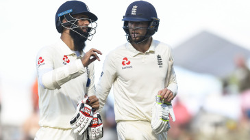 Moeen Ali and Ben Foakes provided a steadying stand
