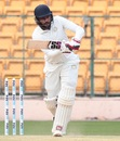 Sheldon Jackson flicks the ball square, Karnataka v Saurashtra, 2nd semi-final, Ranji Trophy 2018-19, Day 4, January 27, 2019