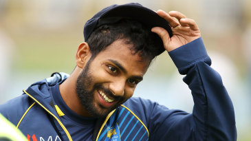Chamika Karunaratne was handed his first cap
