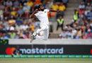 Chamika Karunaratne celebrates his first Test wicket, Australia v Sri Lanka, 2nd Test, Canberra, February 1, 2019