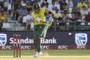 Faf du Plessis tucks the ball into the leg side, South Africa v Pakistan, 1st T20I, Cape Town, February 1, 2019