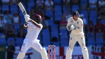 Darren Bravo cuts through the off side