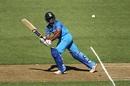 Ambati Rayudu flicks one to the leg side, New Zealand v India, 5th ODI, Wellington, February 3, 2019