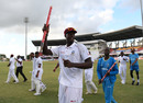 Jason Holder leads his players on a victory lap, West Indies v England, 2nd Test, 3rd day, Antigua, February 2, 2019