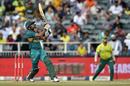 Babar Azam goes for a big shot, South Africa v Pakistan, 2nd T20I, Johannesburg, February 3, 2019