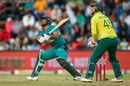 Hussain Talat goes for a reverse sweep, South Africa v Pakistan, 2nd T20I, Johannesburg, February 3, 2019