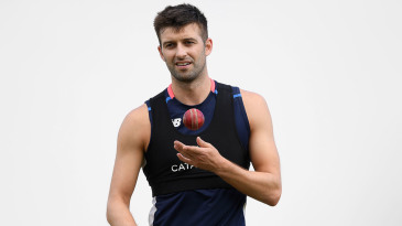 Mark Wood during a net session