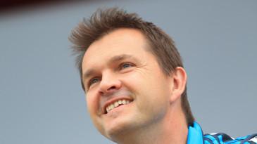 England analyst Nathan Leamon looks on