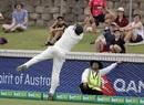 Joe Burns attempts to save a six, Australia v Sri Lanka, 2nd Test, Canberra, February 4, 2019