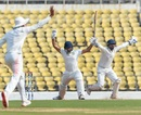 Ganesh Satish fell early on the fourth morning, Vidarbha v Saurashtra, Ranji Trophy 2018-19, final, 4th day, February 6, 2019