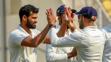 Aditya Sarwate got the big wicket of Cheteshwar Pujara for the second time in the match