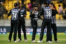 New Zealand's players get together, New Zealand v India, 1st T20I, Wellington, February 6, 2019