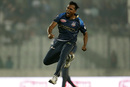Rubel Hossain is thrilled after taking a wicket, Dhaka Dynamites v Rangpur Riders, BPL 2019, 2nd Qualifier, Dhaka, February 6, 2019