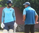 KL Rahul and Rahul Dravid have a chat at training, Wayanad, February 5, 2019