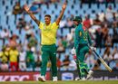 Beuran Hendricks celebrates one of his four wickets, South Africa v Pakistan, 3rd T20I, Centurion, February 6, 2019