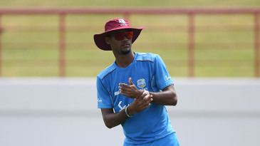 Kraigg Brathwaite of West Indies during a net session