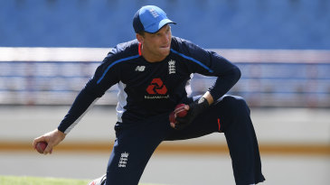 Jos Buttler during England's training session