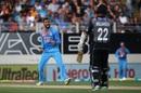 Krunal Pandya is ecstatic after dismissing Kane Williamson, New Zealand v India, 2nd T20I, Auckland, February 8, 2019