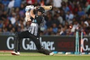 Mitchell Santner is bowled, New Zealand v India, 2nd T20I, Auckland, February 8, 2019