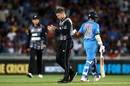 Lockie Ferguson dismissed Shikhar Dhawan in India's chase, New Zealand v India, 2nd T20I, Auckland, February 8, 2019
