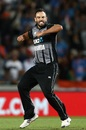Daryl Mitchell is pumped after dismissing Vijay Shankar, New Zealand v India, 2nd T20I, Auckland, February 8, 2019