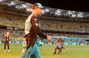Brendon McCullum walks out in his last home game for the Brisbane Heat, Brisbane Heat v Melbourne Stars, Big Bash League 2018-19, Brisbane, February 8, 2019