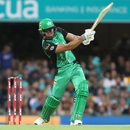 Marcus Stoinis muscles one over the leg side, Brisbane Heat v Melbourne Stars, Big Bash League 2018-19, Brisbane, February 8, 2019