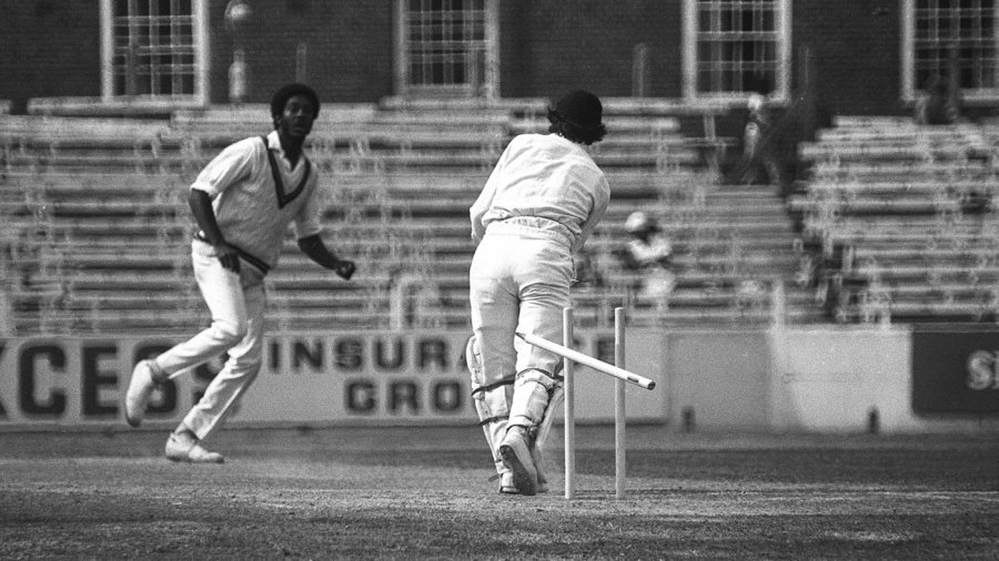 Michael Holding bowled 33 overs and took 8 for 92 in the first innings against England at the Oval in 1976
