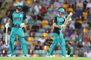 Ben Cutting and Max Bryant applaud each other, Brisbane Heat v Melbourne Stars, Big Bash League 2018-19, Brisbane, February 08, 2019