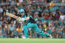 Max Bryant steers one onto the leg side, Brisbane Heat v Melbourne Stars, Big Bash League 2018-19, Brisbane, February 08, 2019