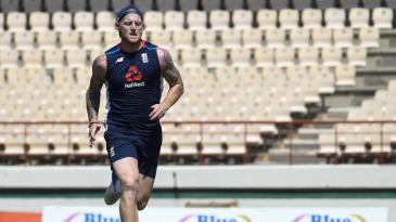 Ben Stokes undergoes a fitness test