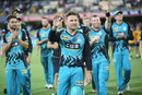 Brendon McCullum takes a lap of honour in his final home game in the BBL, Brisbane Heat v Melbourne Stars, Big Bash League 2018-19, Brisbane, February 08, 2019