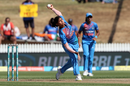Radha Yadav hits her delivery stride, New Zealand v India, 3rd T20I, Hamilton, February 10, 2019