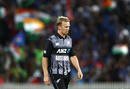 Scott Kuggeleijn walks back to the start of his run-up, New Zealand v India, 3rd T20I, Hamilton, February 10, 2019