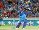 Vijay Shankar brings out a lofted shot, New Zealand v India, 3rd T20I, Hamilton, February 10, 2019