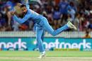 Krunal Pandya sends down his left-arm spin, New Zealand v India, 3rd T20I, Hamilton, February 10, 2019