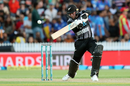 Tim Seifert hammers one onto the off side, New Zealand v India, 3rd T20I, Hamilton, February 10, 2019